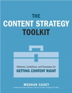 Content Strategy Toolkit Book Cover